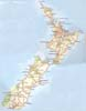 The North and South Islands of New Zealand